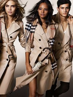 The Burberry Autumn/Winter 2014 campaign with a dynamic cast of young British talent including Cara Delevingne, Malaika Firth and Tarun Nijjer wearing heritage trench coats and accessories