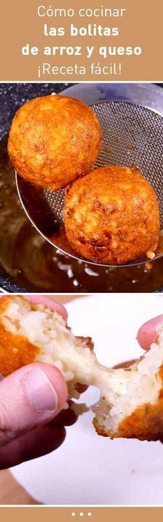 Cómo cocinar las bolitas de arroz y queso. ¡Receta fácil! | https://lomejordelaweb.