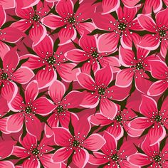 Repeating vector pattern of lots of beautiful red flowers. Flower Vector Art, Vector Flowers, Flower Images, Flower Pictures, Jasmine Flower Tattoos, Graphic Design Art, Floral Design, Flower Graphic, Flower Doodles