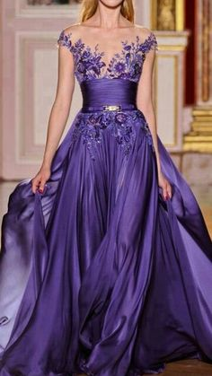 Flowing Purple Gown ♥ totally love the design and colour ♥