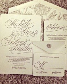 calligraphy wedding invitation from Chic Ink