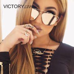 Aliexpress.com: Compre Moda Marca Desing Espelho TECHNOLOGIC Homens ou Mulheres Óculos De Sol Gato olho Máscaras Super Star Óculos de Armação de Metal Da Senhora do Sexo Feminino sol de confiança emoldurado arte para crianças fornecedores em Victory Store For You