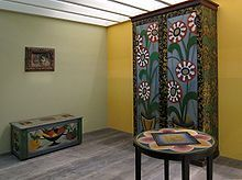 Furniture created by Roger Fry for the Omega Workshops