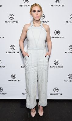 Girls actress Zosia Mamet had a chic take on the overalls trend at the Refinery29 Newfronts presentation in New York City.