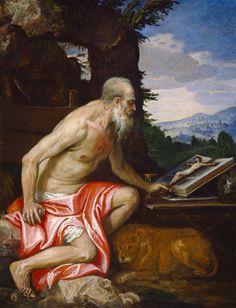 "Veronese ""Saint Jerome in the Wilderness"" 1580 (National Gallery, Washington DC)"