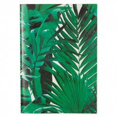 Let's Squawk leather exercise green leaf notebook