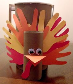 Kids' Craft: Turkey Canisters, www.weknowstuff.us.com #kids #crafts #thanksgiving #turkey