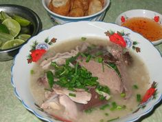 Chao Long  ( viscera pig porridge ) #saigon food