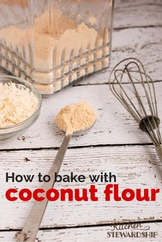 How to use coconut flour in baking (and what NOT to do!) Grain free baking with coconut flour is nothing like regular baking...