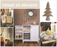 Răsfată-te de Sărbători Bar Cart, Interiors, Architecture, Furniture, Home Decor, Figurine, Arquitetura, Decoration Home, Room Decor