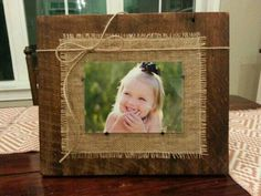 Best Ideas For Barn Wood Crafts Home Decor Projects Barn Wood Frames, Wood Picture Frames, Picture On Wood, Picture Craft, Decorate Picture Frames, Homemade Picture Frames, Homemade Frames, Reclaimed Wood Frames, Barn Wood Projects