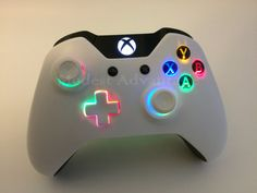 Xbox One controller underglow LED installation by abxymods on Etsy