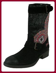 DESIGUAL Damen Designer Schuhe Biker Boots - COMBAT -36 - Stiefel für frauen (*Partner-Link)