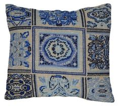 MOROCCO -blue, cross stitch pattern for pillow,needlepoint,embroidery,burlap pillow cover, hessian cushion,diy,cross stitch cushion,beads