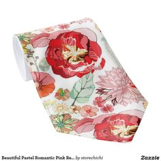 Beautiful Pastel Romantic Pink Red Roses. Girly