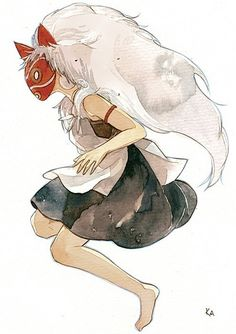 Browse Princess Mononoke-La Princesa Mononoke-Mononoke-hime-Anime-Movie collected by Elizabeth K and make your own Anime album. Manga Anime, Film Manga, Anime Art, Hayao Miyazaki, Studio Ghibli Art, Studio Ghibli Movies, Mononoke Cosplay, Watercolor Moon, Tattoo Watercolor