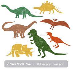 DinosaurierClipArt von HanaPrint auf Etsy, $4.00