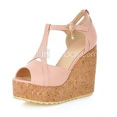 Women's Shoes Heel Wedges / Heels / Peep Toe / Platform Sandals Outdoor /  Dress / Casual Black / Blue / Pink / White