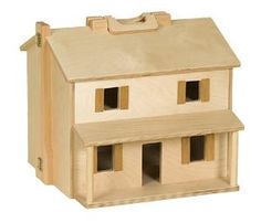 Amish Wooden Folding Doll House