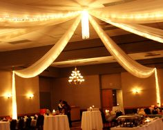 The decor in the banquet room