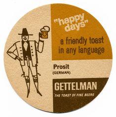 Beer Mats, Beer Coasters, Brewing Co, Artwork Design, Happy Day, Barware, Ale, Retro, Division