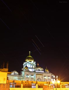 Mars, Saturn and Star Shine Over India