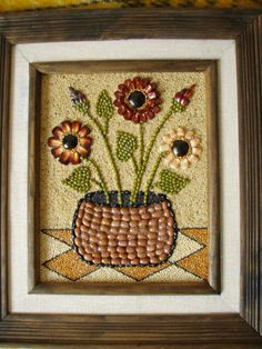 Mosaic Crafts, Mosaic Art, Seed Craft, Art For Kids, Crafts For Kids, Fruit Art, Button Art, Shell Crafts, Nature Crafts