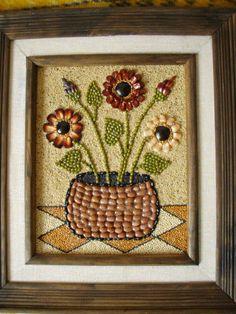 Mosaic Crafts, Mosaic Art, Seed Craft, Art For Kids, Crafts For Kids, Fruit Art, Shell Crafts, Button Art, Nature Crafts