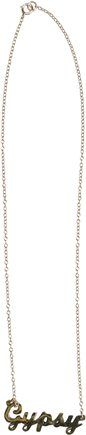 CHELSEA B GYPSY THIN GOLD CHAIN NECKLACE