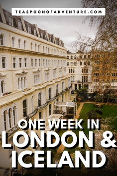 How to spend one week in London and Iceland! The perfect itinerary for a trip to both London and Iceland - from the Tower of London to waterfalls and glaciers! #london #iceland #travel #traveltips #uk #itinerary #europe