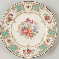 Old Ivory Syracuse China in Romance Green Pattern - Google Search