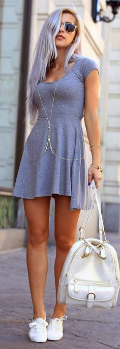 Grey Best Street Style Inspiration and also more ideas and street dress within your budget