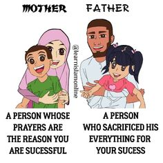 New Quotes Family Islam Muslim Ideas Father Daughter Love Quotes, Love My Parents Quotes, Mom And Dad Quotes, I Love My Parents, Love U Mom, Baby Quotes, Family Quotes, Girl Quotes, Funny Quotes