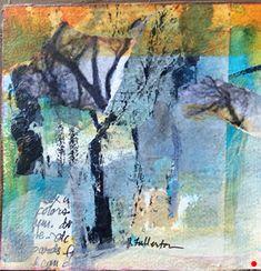 Season of Renewal-Mixed Media by Joan Fullerton, Mixed Media, 8 x 8 x .75 Abstract Landscape Painting, Landscape Art, Landscape Paintings, Abstract Art, Landscapes, Abstract Paintings, Small Paintings, Contemporary Paintings, Pastel Art