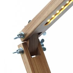 Next Post Previous Post Luminária de Mesa LED With an articulated wooden structure, the LED luminaire uses the technology that.