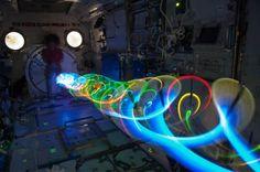 Proyecto artístico de espirales LED en la Estación Espacial Internacional