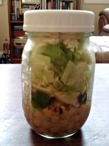 Salad in a Jar {Salted Plates}