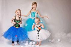 Olaf the Snowman Full White Tutu Dress by OurSweetSomethings4U