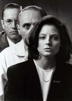 Jodie Foster, Anthony Hopkins y Scott Glenn en 'El silencio de los corderos' (Jonathan Demme, 1991). Uno de mis thrillers favoritos.