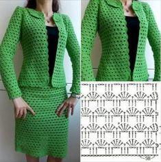 Fabulous Crochet a Little Black Crochet Dress Ideas. Georgeous Crochet a Little Black Crochet Dress Ideas. Gilet Crochet, Crochet Coat, Crochet Jacket, Crochet Cardigan, Diy Crochet, Crochet Baby, Black Crochet Dress, Crochet Skirts, Crochet Clothes
