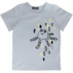 aarrekid organic monster t-shirt – grey