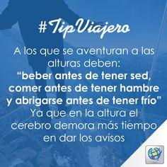 50ee18208 #TipViajero Un buen dato para todos los aventureros y fanáticos de la  altura ✈ www.costamar.com