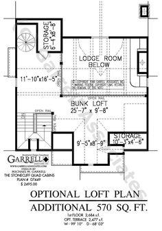 Stonecliff Quad Cabins   House Plans by Garrell Associates, Inc.