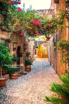 Good morning from blooming streets of #Rhodes Old Town. #Greece is at arm's length from #Fethiye