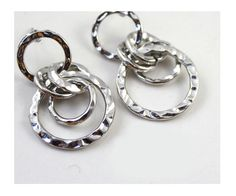Simple Silver Plated Earrings 3308 - EC Chic Fashion Online Store worldwide Free Shipping