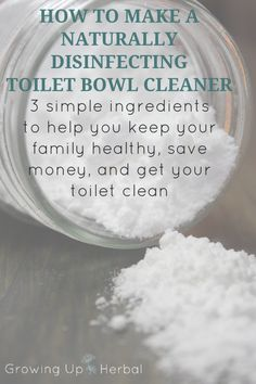 Love making your own natural cleaners? Looking for easy and cheap? Here's a naturally disinfecting toilet bowl cleaner that uses 3 simple ingredients. Homemade Cleaning Supplies, Household Cleaning Tips, Cleaning Recipes, House Cleaning Tips, Cleaning Hacks, Household Products, Toilet Cleaning, Household Cleaners, Homemade Products