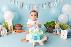 Image result for peter rabbit cake smash