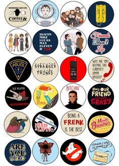 Stranger Things Party Cupcake Toppers Stranger Things Party Cupcake Toppers Hope itsmeehope Stranger things Stranger Things Party Printable Cupcake Toppers Features 24 Icons and Quotes nbsp hellip Cupcake toppers Stranger Things Pins, Stranger Things Aesthetic, Stranger Things Season 3, Stranger Things Netflix, Stranger Things Patches, Tumblr Stickers, Phone Stickers, Cute Stickers, Aesthetic Stickers