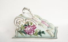 Victorian Porcelain Cheese Keeper, Vintage Limoges Covered Cheese Plate, French Fine China Serving Piece, Mothers Day