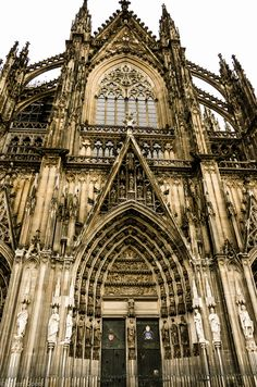 Cologne Cathedral, Germany. Crazy to think that when this was built, there was no CAD, no modern construction equipment. Everything was done by hand, and by people. If that doesn't make you appreciate classical/gothic architecture, I don't know what will.